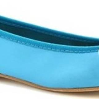 Leonardo Shoes Baleríny 6087 CUOIO NAPPA TURCHESE Modrá