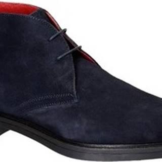 Leonardo Shoes Kotníkové boty 1035-1 PE CAMOSCIO BLU Modrá