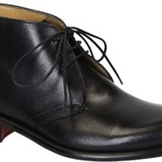 Leonardo Shoes Kotníkové boty T032 SIVIGLIA NERO Černá