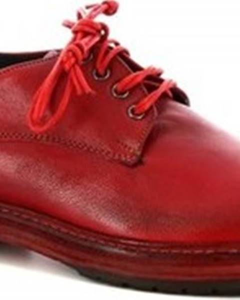 Červené polobotky Leonardo Shoes
