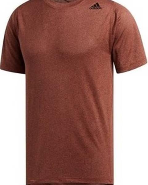 Hnědé tričko adidas