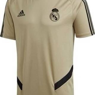adidas Trička s krátkým rukávem Real Madryt Training Jersey Béžová