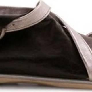 Leonardo Shoes Sandály 269002/METAL-NERO Stříbrná