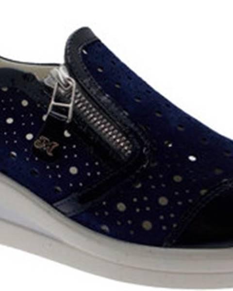 Modré boty Melluso