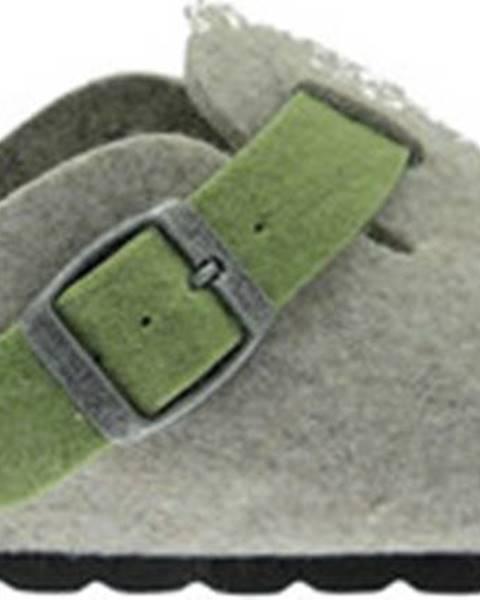 Zelené pantofle Riposella