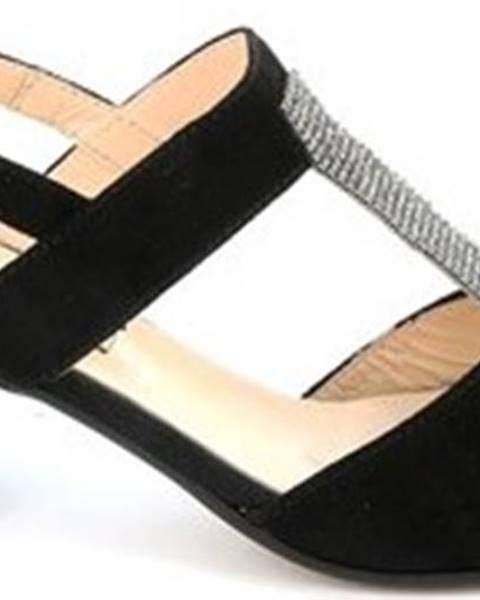 Černé sandály Grunland