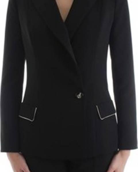 Černá bunda Elisabetta Franchi