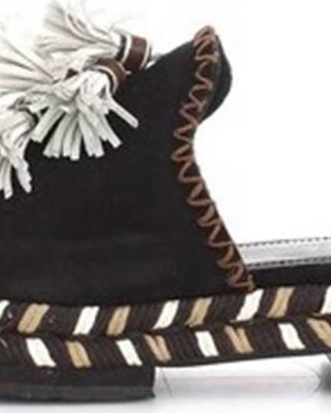 Černé pantofle Apepazza