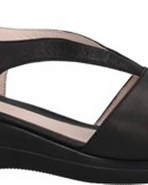 Černé sandály Stonefly