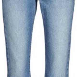 Tommy Jeans Rifle rovné KATIE CROP FLARE Modrá