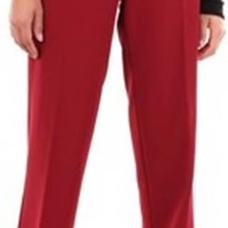 Anna Rachele Oblekové kalhoty PX280698 Červená