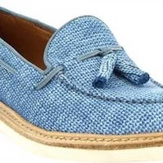 Leonardo Shoes Mokasíny W052-24 COSTES DENIM Modrá