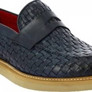 Leonardo Shoes Mokasíny 9462E20 VITELLO AV BLU Modrá