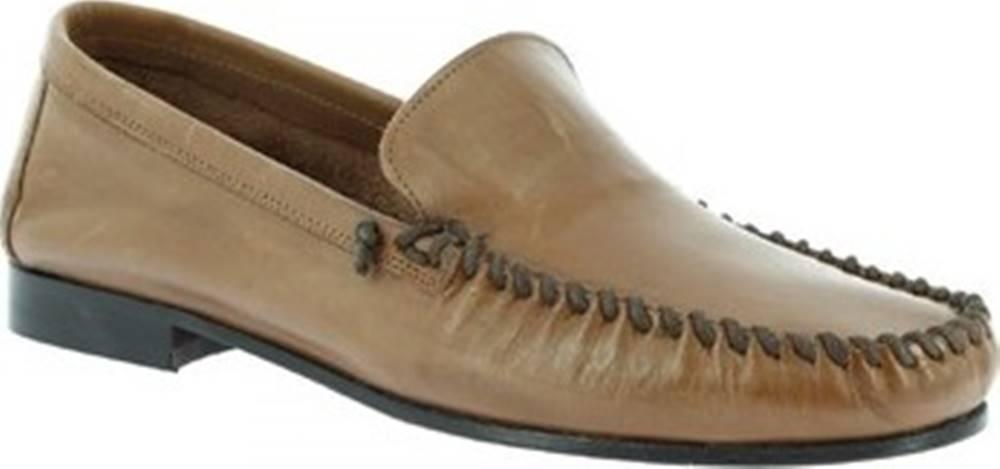 Leonardo Shoes Leonardo Shoes Mokasíny 1301 VITELLO CAPPUCCINO Hnědá