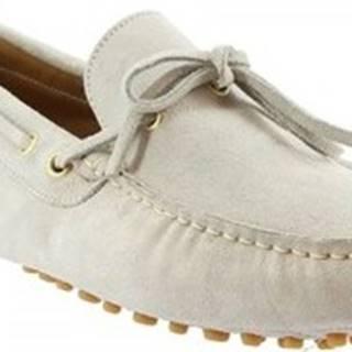 Leonardo Shoes Mokasíny 3041 CAMOSCIO FUMO