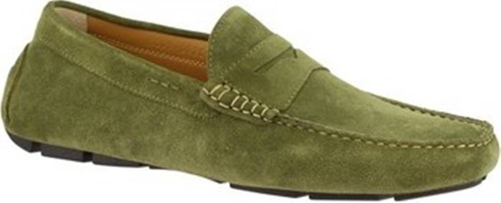 Leonardo Shoes Leonardo Shoes Mokasíny 8309 SOFTY CAPPERO Zelená
