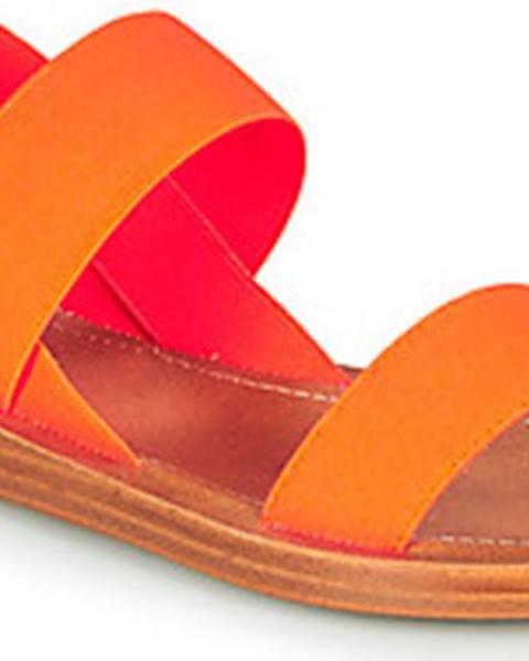 Oranžové sandály steve madden