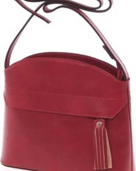 Červená kabelka ITALY