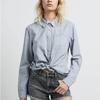 Volcom Košile / Halenk Women's Cham Ls Shirt STP Modrá