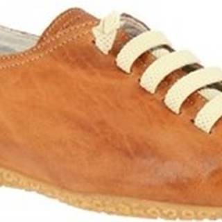 Leonardo Shoes Šněrovací polobotky 1269PINTA CUOIO Hnědá