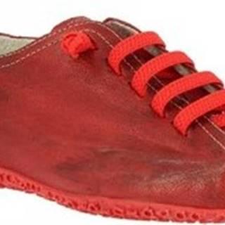 Leonardo Shoes Šněrovací polobotky 1269PINTA ROSSO BORDO Červená