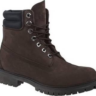 Timberland Kotníkové boty Classic Premium 6 IN Hnědá