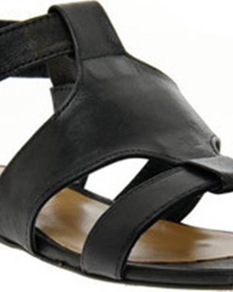 Černé sandály Priv Lab