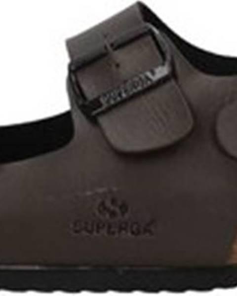Hnědé sandály Superga