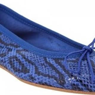 Leonardo Shoes Baleríny 6087 PITEN MARINE Modrá