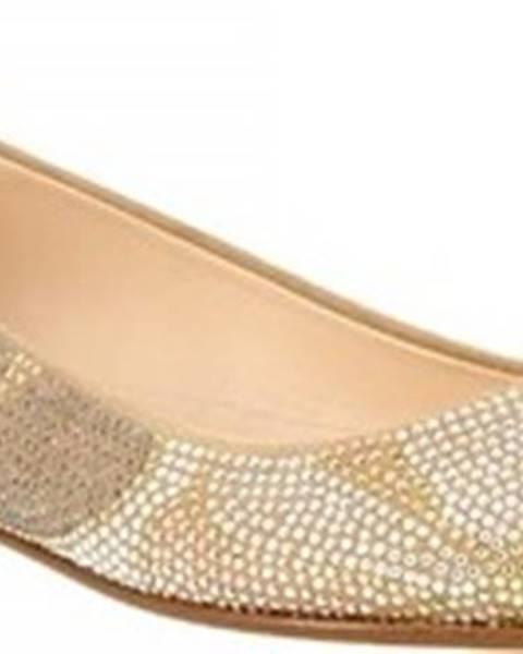 Béžové baleríny Leonardo Shoes