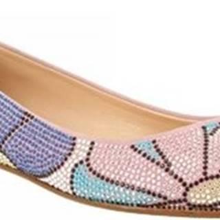 Leonardo Shoes Baleríny VIA CORTA ROSA STRASS Růžová