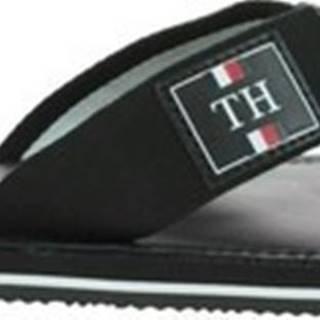 Tommy Hilfiger Žabky Elevated Leather Beach Sandal Černá