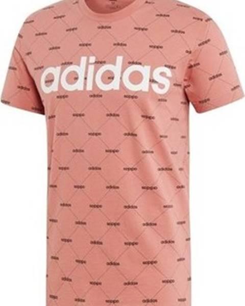 Růžové tričko adidas