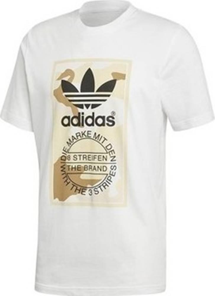 adidas adidas Trička s krátkým rukávem Camo Tee Bílá