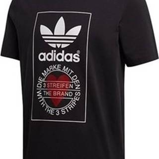 adidas Trička s krátkým rukávem Valentines Day Tee Černá