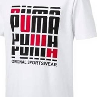 Puma Trička s krátkým rukávem Logo Tee Bílá