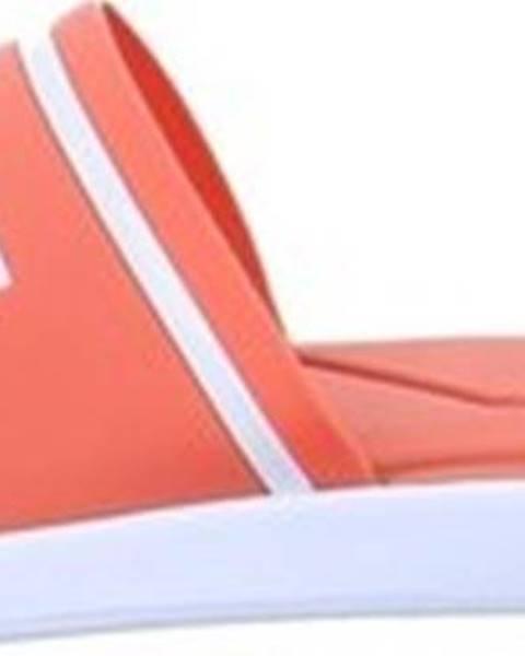 Oranžové pantofle lacoste