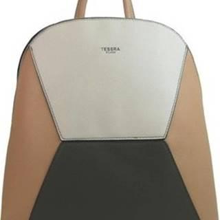 Tessra Batohy Meruňkově hnědý dámský elegantní batůžek 4187-TS ruznobarevne