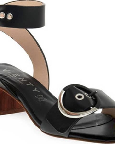 Černé sandály Vienty