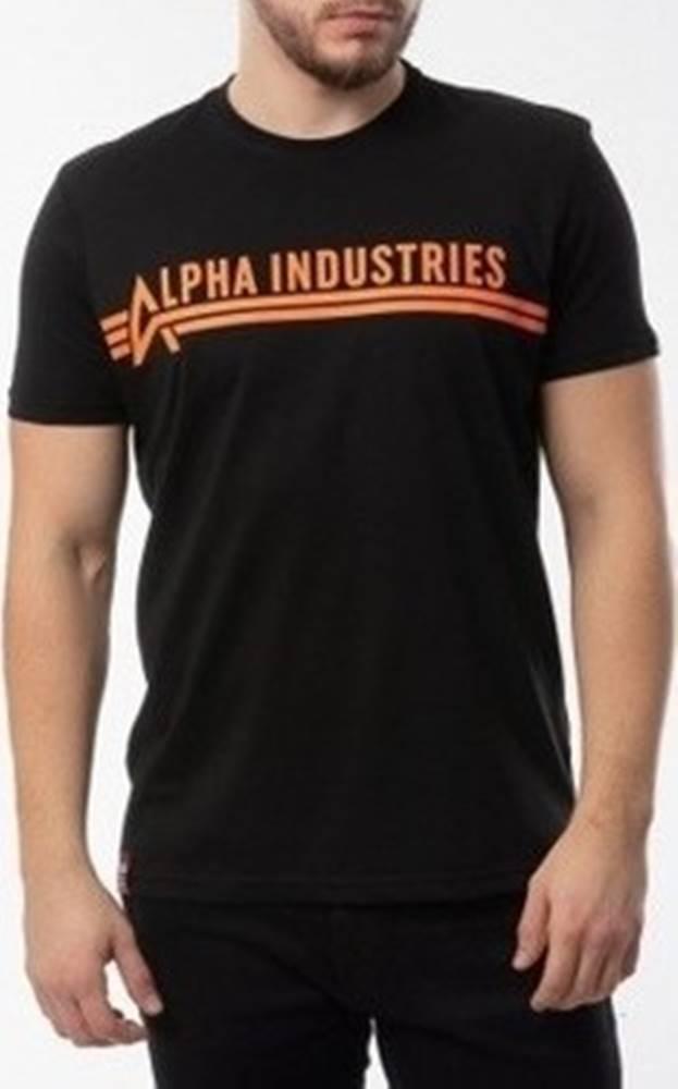 Alpha Alpha Trička s krátkým rukávem T Černá