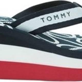 Tommy Hilfiger Žabky Nautical High Wedge Beach Sandal ruznobarevne