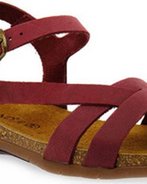 Červené sandály Grunland