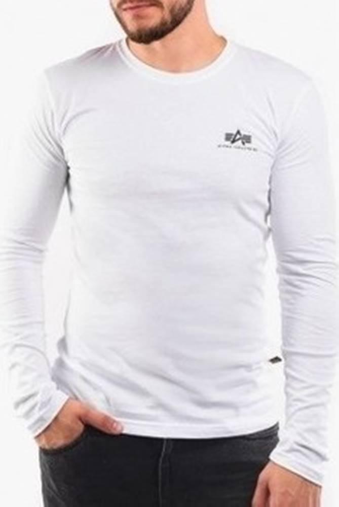 Alpha Alpha Trička s dlouhými rukávy Basic Longsleeve Small Logo Bílá