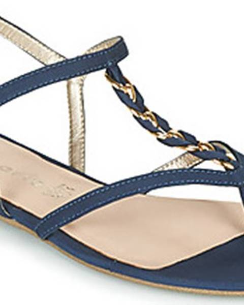 Modré sandály tamaris