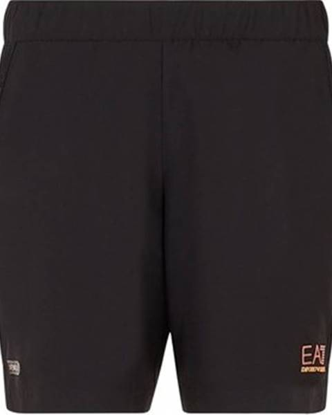 Černé kraťasy Emporio Armani EA7