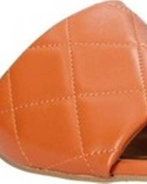 Oranžové pantofle Grace Shoes