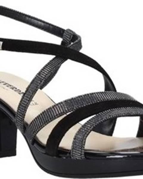 Černé sandály Valleverde