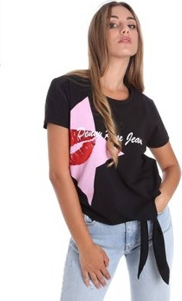 DENNY ROSE Denny Rose Trička s krátkým rukávem 011ND64013 Černá