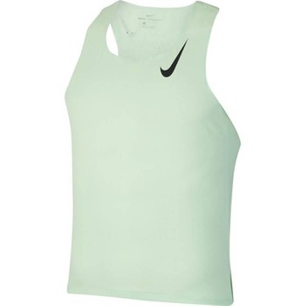 nike Nike Trička s krátkým rukávem Aeroswift Singlet Zelená