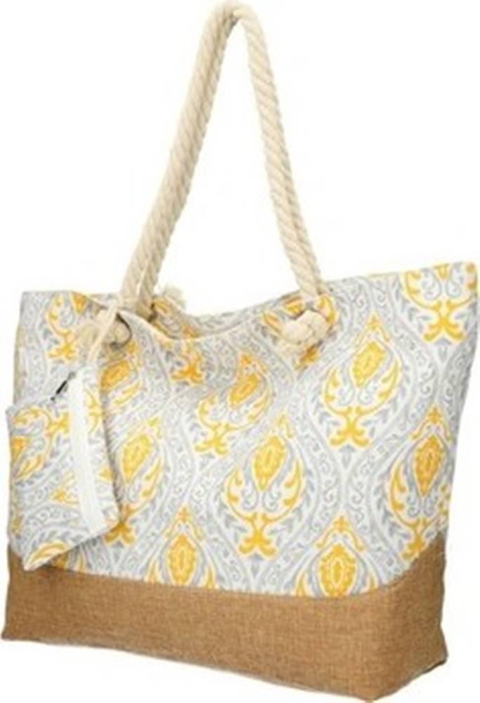 Linea Moda Linea Moda Kabelky přes rameno Velká šedo-žlutá plážová taška přes rameno B6802